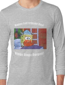 Happy Leif Erikson Day Long Sleeve T-Shirt
