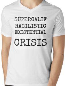 Supercalifragilistic-existential crisis Mens V-Neck T-Shirt