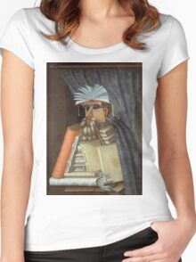 Giuseppe Arcimboldo - The Librarian 1562  Women's Fitted Scoop T-Shirt