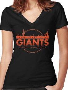 San Francisco Spring Training  Women's Fitted V-Neck T-Shirt