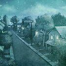 The Night Gardener - Grimloch Lane, Night by Eric Fan