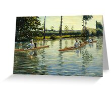 Gustave Caillebotte - Boating on the Yerres Perissoires sur l Yerres 1877 Greeting Card