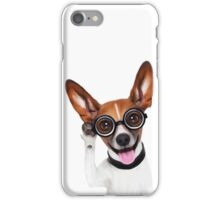 Dog Wearing Glasses 1 iPhone Case/Skin