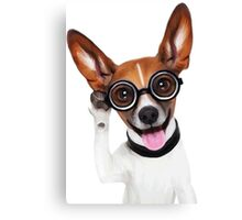 Dog Wearing Glasses 1 Canvas Print