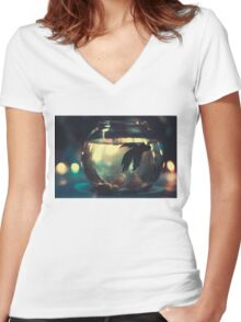 Only Me! Women's Fitted V-Neck T-Shirt