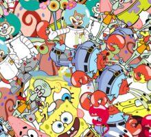Sponge Bob Sticker Bomb Sticker