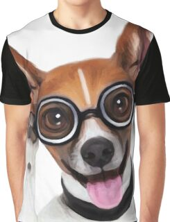 Dog Wearing Glasses 2 Graphic T-Shirt