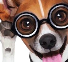Dog Wearing Glasses 2 Sticker