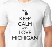 KEEP CALM and LOVE MICHIGAN Unisex T-Shirt
