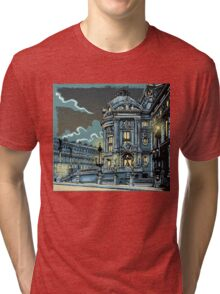 Opéra de Paris at Night Tri-blend T-Shirt