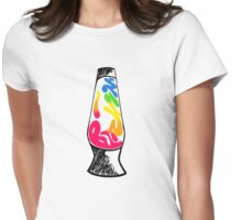 Tie Dye Bitchin' Lava Lamp Womens Fitted T-Shirt