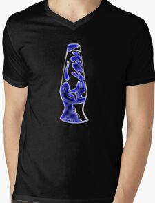 Blue Neon Bitchin' Lava Lamp  Mens V-Neck T-Shirt