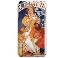 Art nouveau ad French chocolate drink, huge quality iPhone Case/Skin