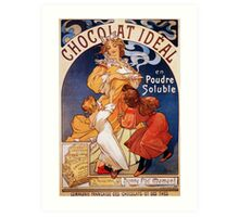 Art nouveau ad French chocolate drink, huge quality Art Print