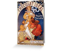 Art nouveau ad French chocolate drink, huge quality Greeting Card