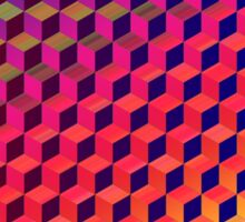 Multi color Isometric Cube Pattern  Sticker