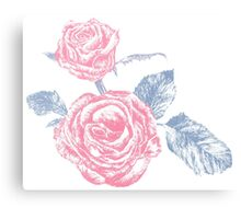Rose colored ink sketch  Canvas Print