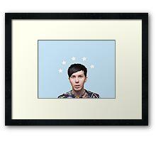 Phil Lester Star Halo - Baby Blue Framed Print