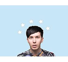 Phil Lester Star Halo - Baby Blue Photographic Print
