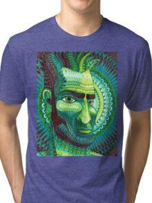 Man in Green Tri-blend T-Shirt