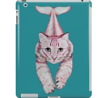 Cat with a tail (red) iPad Case/Skin