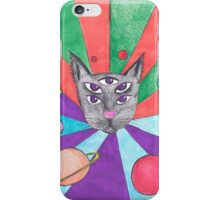 Cat with Third Eye iPhone Case/Skin