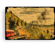 Down the Mountain Canvas Print