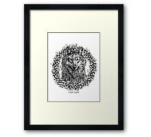 Canis Lupus - Gray Wolf - Black & White Version Framed Print