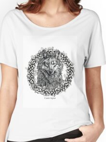 Canis Lupus - Gray Wolf - Black & White Version Women's Relaxed Fit T-Shirt
