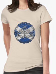 Chrome Celtic Knot Thistle Womens Fitted T-Shirt