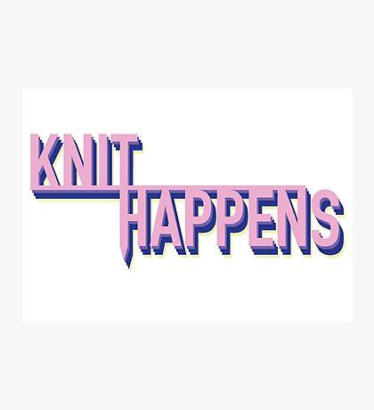 Knit Happens Photographic Print
