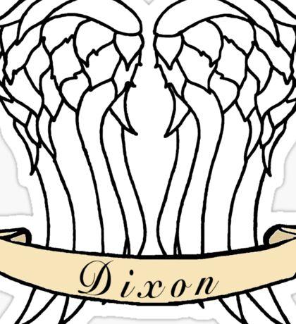Daryl Dixon Wings & Banner Sticker