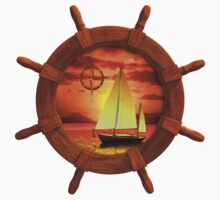 Sailboat Sunset Baby Tee