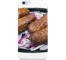 Kofta Kebabs on a Sizzling Plate iPhone Case/Skin