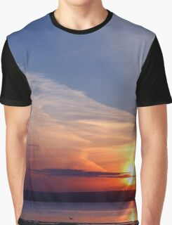 Ballyholme Sunset Graphic T-Shirt