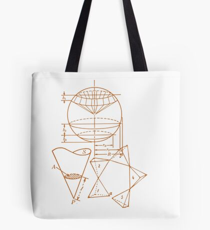 Vintage Math Diagrams - sepia Tote Bag