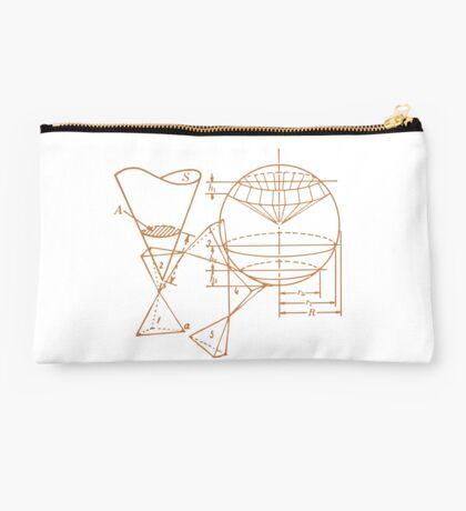Vintage Math Diagrams - sepia Studio Pouch