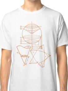 Vintage Math Diagrams - sepia Classic T-Shirt