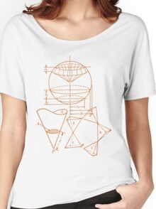Vintage Math Diagrams - sepia Women's Relaxed Fit T-Shirt
