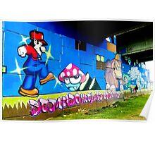 Graffiti under the bridge (Mario Bros). Poster