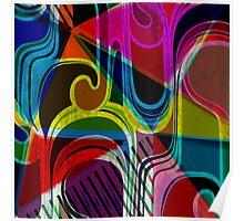 Modern Art   Vibrant Design   Contemporary   Abstract Poster