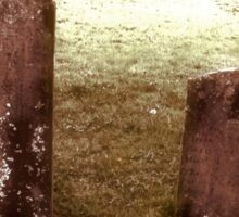 """'""""THE CEMETERY, a Series', No. 9, Together Forever""""... prints and products Sticker"""