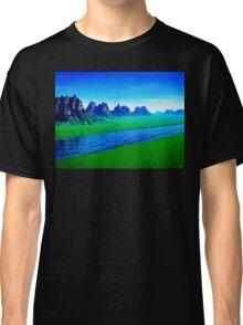 Mountain River Landscape Classic T-Shirt