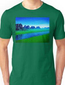 Mountain River Landscape Unisex T-Shirt