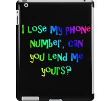 phone number iPad Case/Skin
