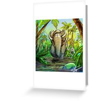 The Jungle Book Elephant Greeting Card