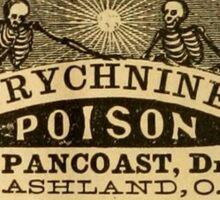 Victorian Poison sticker Sticker
