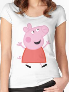 Peppa Women's Fitted Scoop T-Shirt