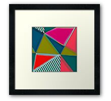 MODERN ART | VIBRANT DESIGN | ABSTRACT | CONTEMPORARY STUDIO | NEW | GRAPHIC ART Framed Print