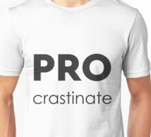PROcrastinate Black on White Unisex T-Shirt